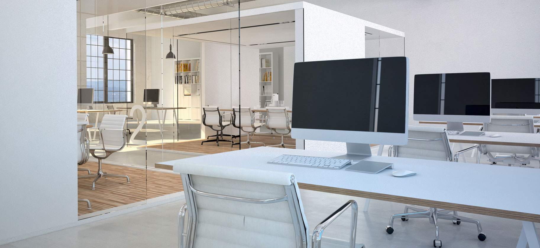 Großraumbüro mit iMacs